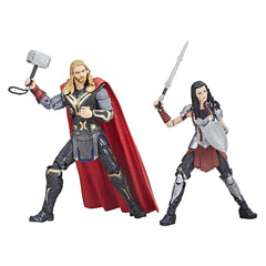 "Marvel Legends Marvel Cinematic Universe 10th Anniversary Series – Thor; The Dark World (Film) – Thor and Sif 6"" Figure 2-Pack Box Set"