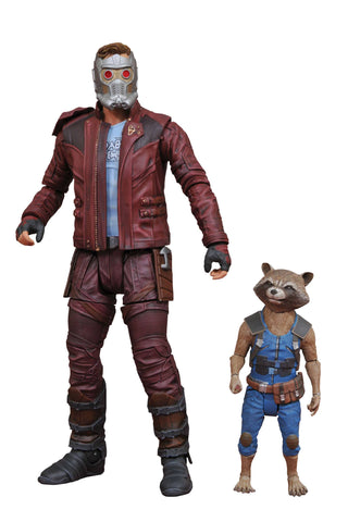 "Marvel Select – Guardians of the Galaxy Vol. 2 (Film) – Star-Lord 7"" Figure & Rocket figure 2-Pack"