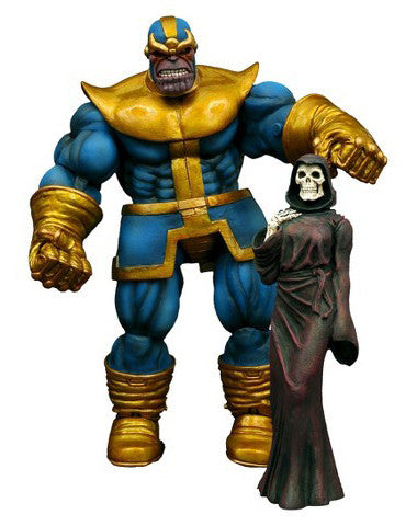 "Marvel Select – Thanos 8"" Figure with Base plus Death Figure"