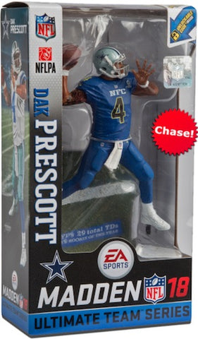 "NFL – Madden 18 Ultimate Team  – Series 2 – Dallas Cowboys: Dak Prescott 7"" Figure (Variant ""Pro-Bowl Uniform"" Version)"