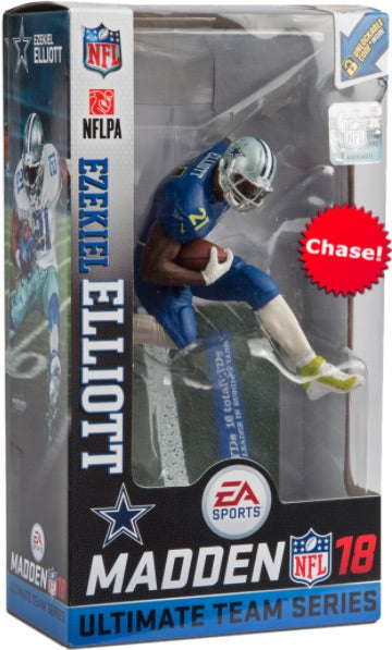 "NFL – Madden 18 Ultimate Team  – Series 2 – Dallas Cowboys: Ezekiel Elliott 7"" Figure (Variant ""Pro-Bowl Uniform"" Version)"