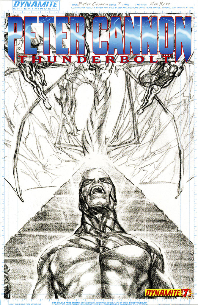 "Peter Cannon; Thunderbolt (2012 series) #7 (Variant Incentive ""A"" Sketch Art Cover - Alex Ross)"