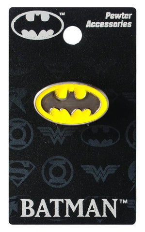 Pewter Lapel Pin – Batman Yellow Oval Logo