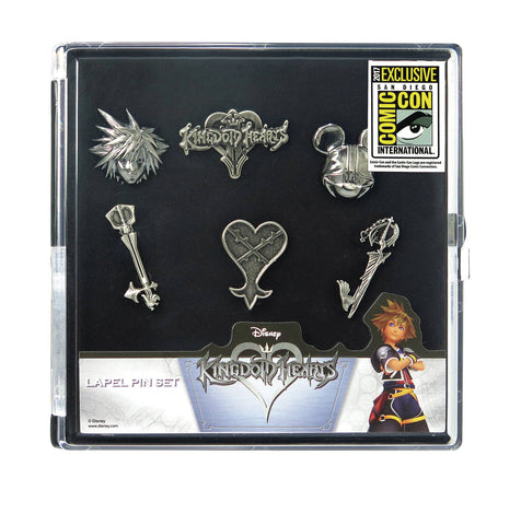 Pewter Lapel Pin Set – Disney – Kingdom Hearts 6-Pin Box Set (SDCC 2017 Exclusive)