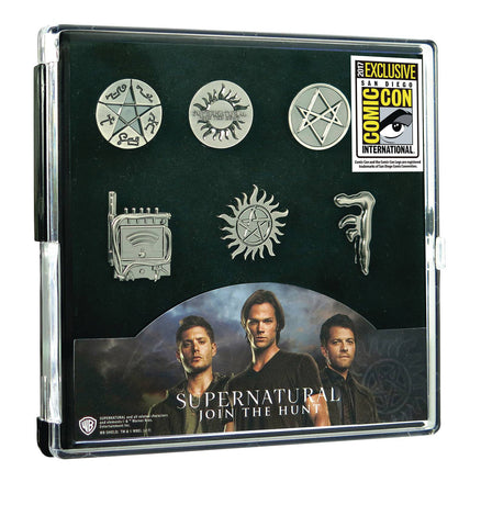 "Pewter Lapel Pin Set – Supernatural (TV) – ""Join the Hunt"" 6-Pin Box Set (SDCC 2017 Exclusive)"