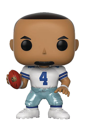 "POP! NFL Football Legends – Dallas Cowboys – Quarterback Dak Prescott (Home Jersey) 3.75"" Vinyl Figure"