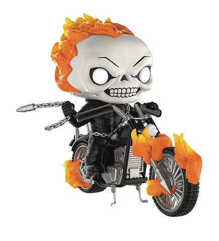 POP! Rides – Ghost Rider – Johnny Blaze & Motorcycle Vinyl Figure (Variant Glow-in-the-Dark Edition) (Previews Exclusive)