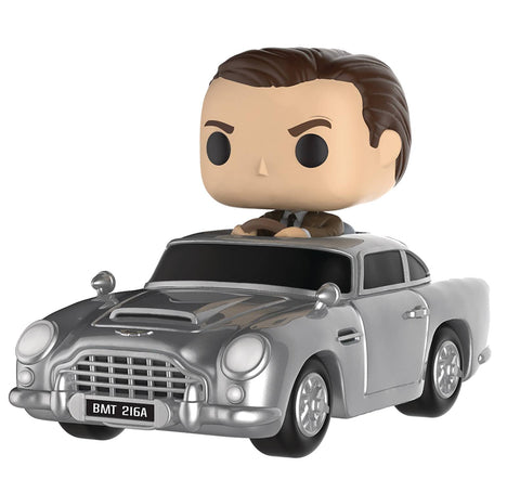 POP! Rides – James Bond in Goldfinger (Film) – MI-6 Aston Martin Automobile &  James Bond Vinyl Figure Set