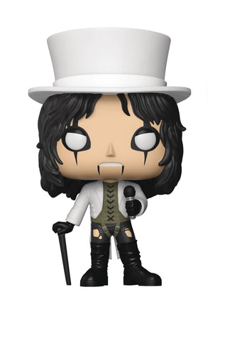 "POP! Rocks – Alice Cooper – ""White Top Hat & Jacket"" 3.75"" Vinyl Bobble Figure"