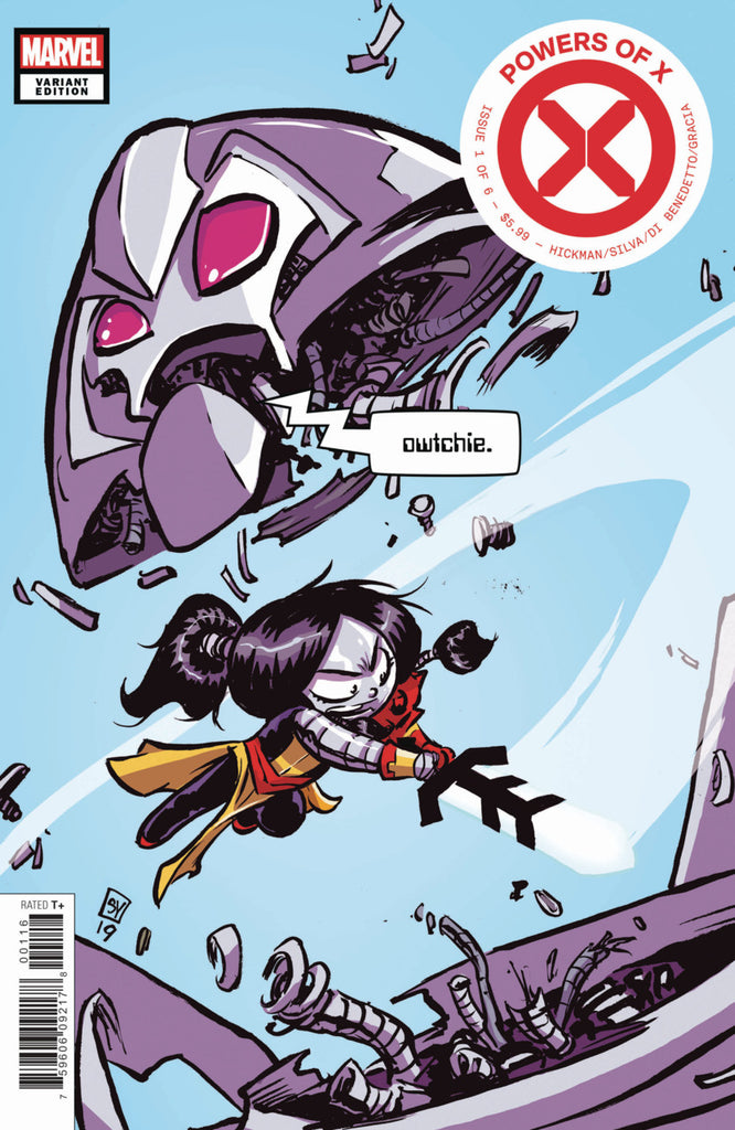 "Powers of X (2019 mini-series) #1 (of 6) (Variant ""Baby"" Cover - Skottie Young)"