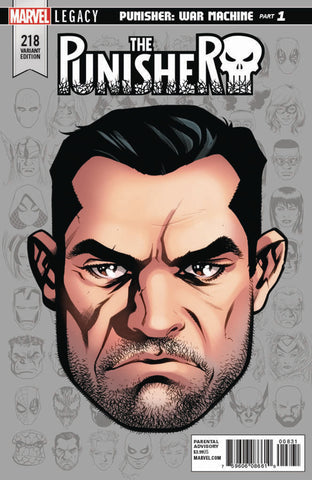 "Punisher (2016 series) #218 (Variant Incentive ""Legacy Headshot"" Cover - Mike McKone)"