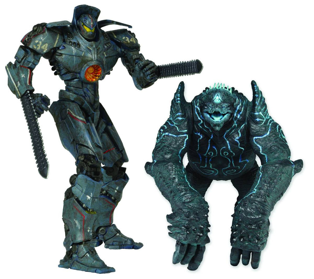 "Pacific Rim (Film) – Series 2 Special – Jaeger Gipsy Danger (Battle-Damaged Version) vs. Kaiju Leatherback 7"" 2-Pack"