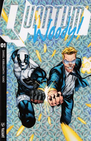 "Quantum and Woody (2017 series) #01-5 [SET] — Volume 01: Kiss Kiss, Klang Klang (All Variant ""B"" Ultra-Foil Covers)"