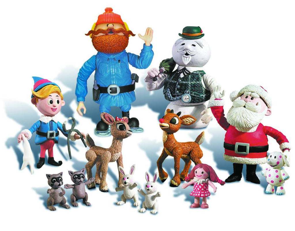 "Rudolph & the Island of Misfit Toys (TV) – Series 1 – Complete 6"" Figure Set – Rudolph, Clarice, Hermey, Sam the Snowman, Santa, Yukon Cornelius Figures"