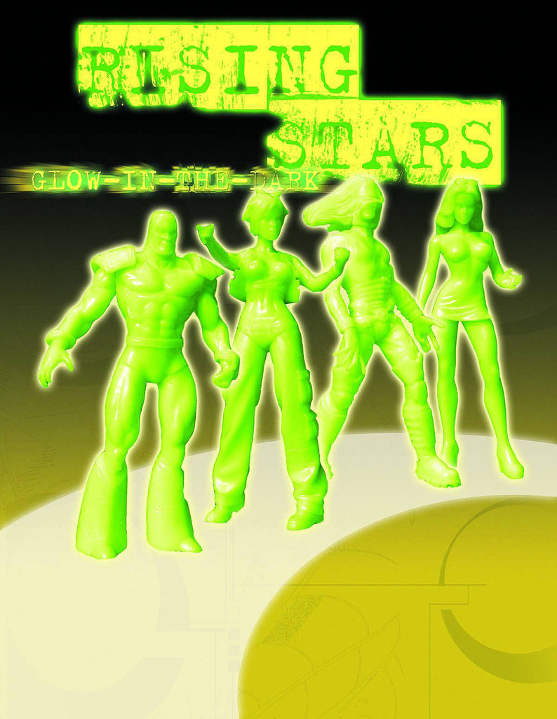 "Rising Stars Series 1 – Variant Glow in the Dark 6"" Figures Set – Chandra, Critical Mass, Patriot, Ravenshadow"