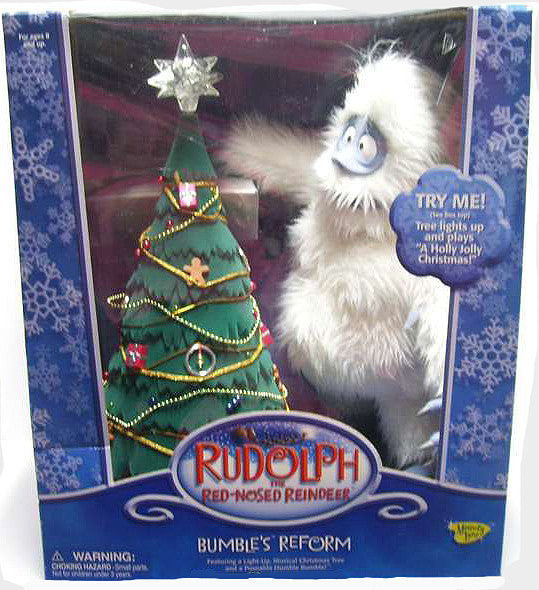 "Rudolph & the Island of Misfit Toys (TV) – Bumble's Reform 12"" Figure and Christmas Tree"