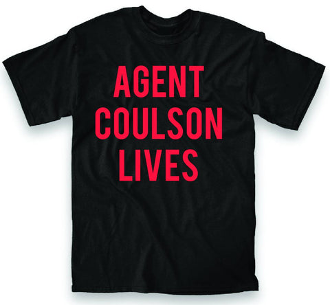 Marvel's Agents of S.H.I.E.L.D. (TV Series) – Agent Coulson Lives – Adult Men's T-Shirt (XXL)