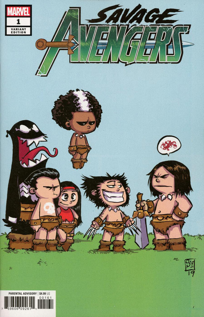 "Savage Avengers (2019 series) #1 (Variant ""Baby"" Cover - Skottie Young)"