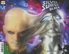 "Silver Surfer; Black (2019 mini-series) #4 (of 5) (Variant ""Immortal"" Wraparound Silver Surfer Cover - Alex Garner)"