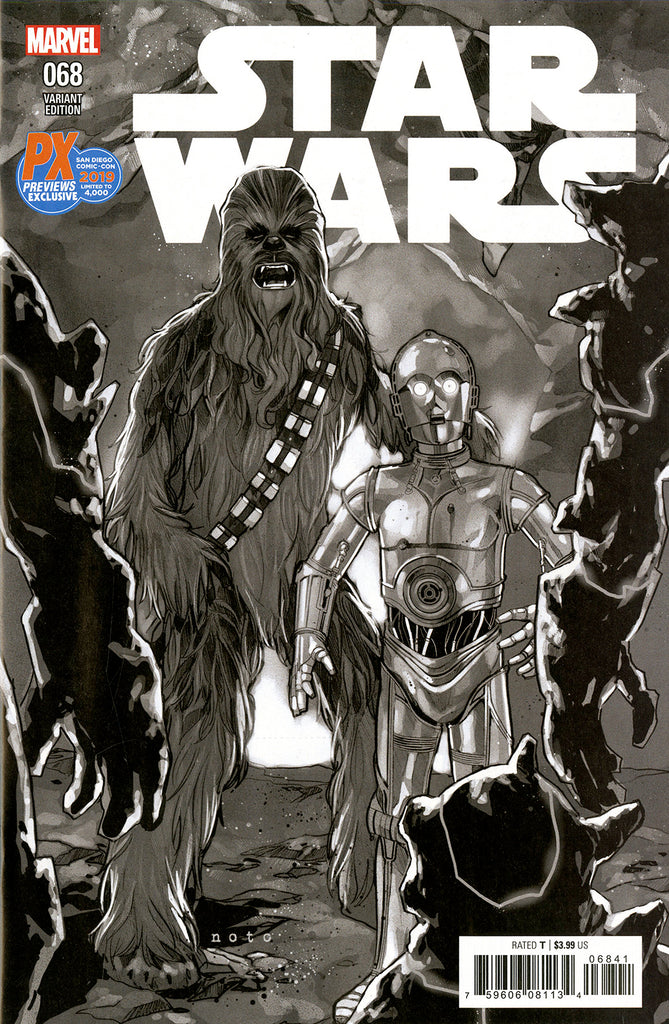 Star Wars (2015 Series) #68 (Variant SDCC 2019 B&W Cover - Phil Noto)