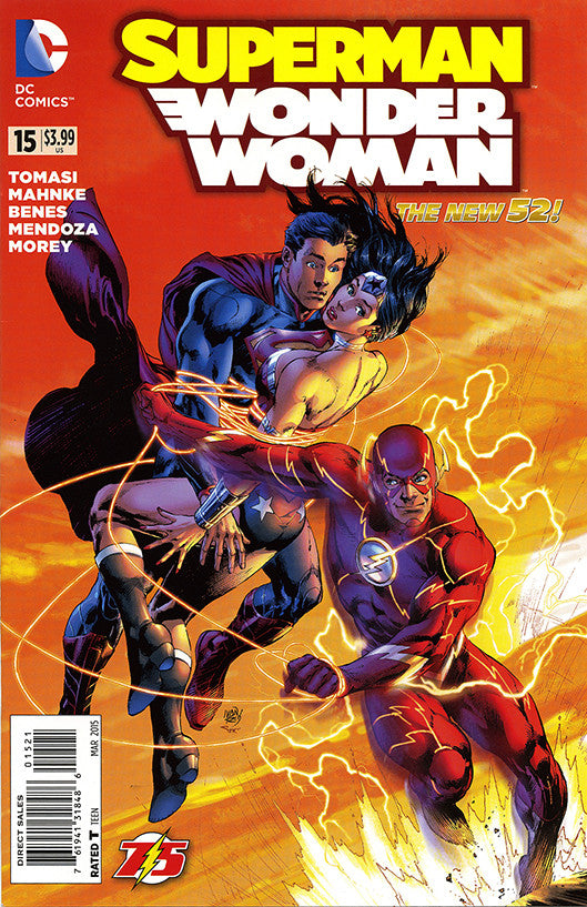 "Superman / Wonder Woman (2013 Series) #15 (Variant ""Flash 75th"" Cover - Ivan Reis)"