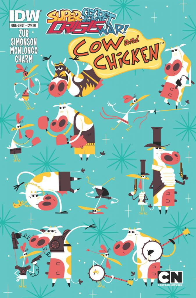 Super Secret Crisis War! Cow and Chicken (2014 One-Shot) #1 (Variant Incentive Cover - Andrew Kolb)