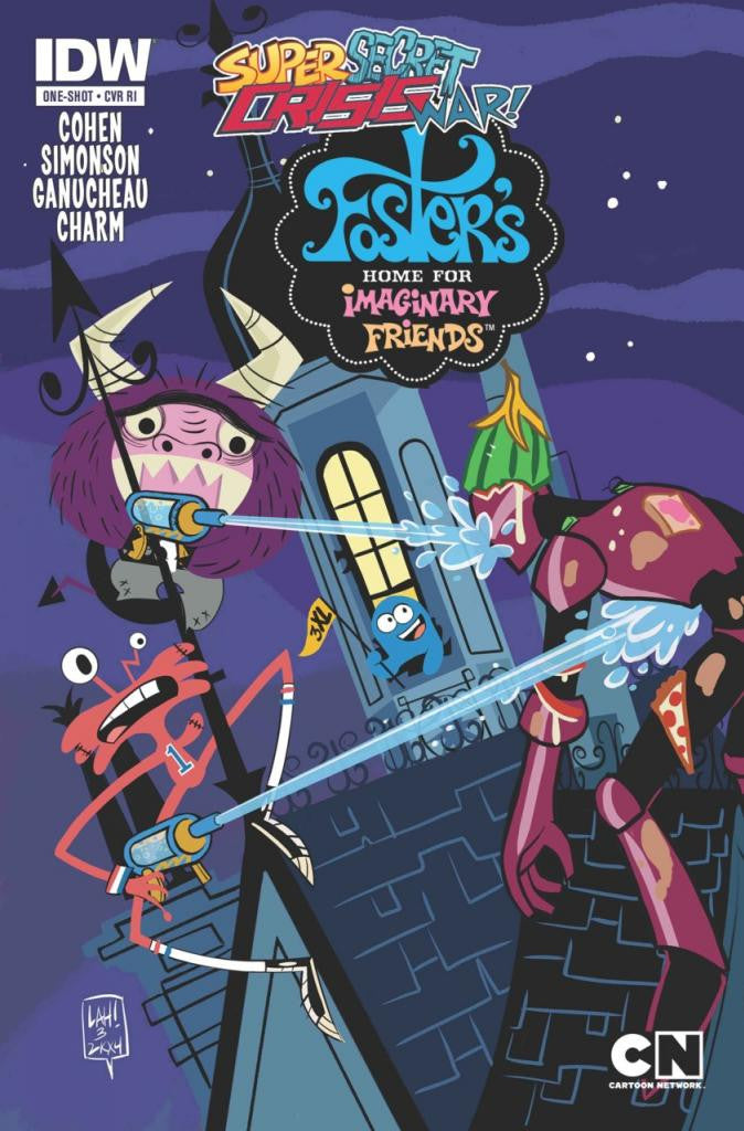 Super Secret Crisis War! Foster's Home for Imaginary Friends (2014 One-Shot) #1 (1:10 Lea Hernandez Variant Cover)