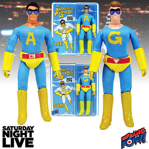 "Saturday Night Live (TV) – Ambiguously Gay Duo: Ace & Gary 8"" Retro-Cloth Figures Set"