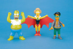 Simpsons (TV) – Bendy Figures – Bongo Comics 3-Pack (Ingestible Bulk, Vampiredna, & Captain Kwik) (KB Toys Exclusive)