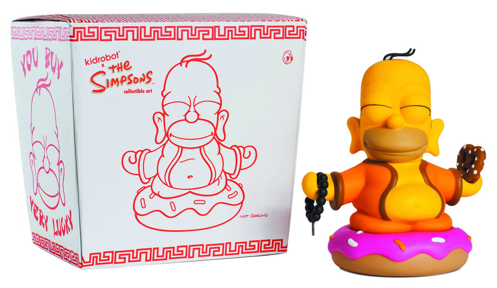 "Simpsons (TV) – KidRobot Vinyl Figure – Homer Buddha 6"" Vinyl Figure in Chinese Take-Out Package"