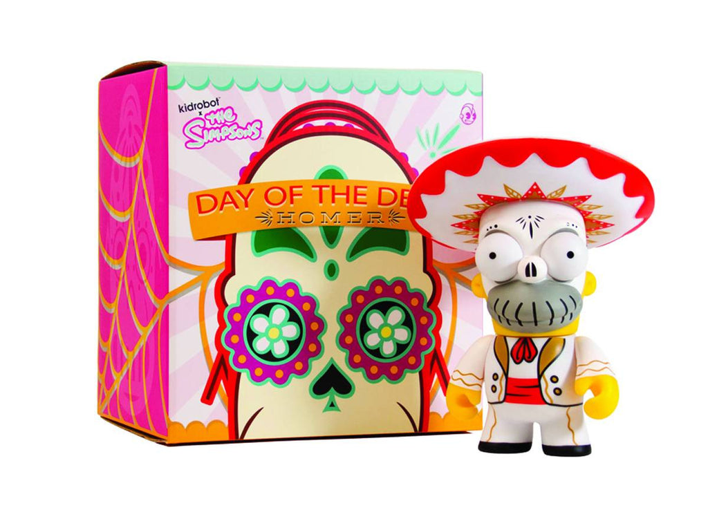 "Simpsons (TV) – KidRobot Vinyl Figure – Day of the Dead Mariachi Homer 6"" Vinyl Figure"