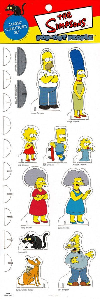Simpsons (TV) – Pop-Out People – Classic Collector's Set