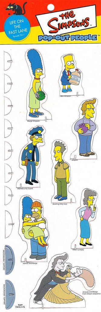 Simpsons (TV) – Pop-Out People – Life on the Fast Lane