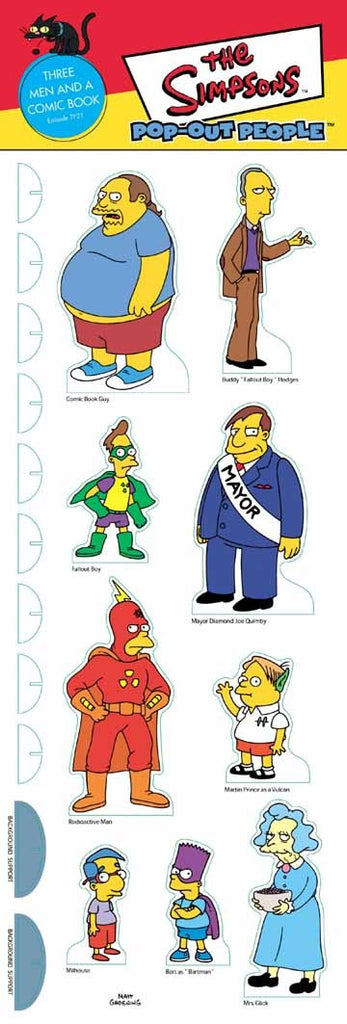 Simpsons (TV) – Pop-Out People – Three Men and a Comic Book