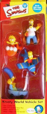 Simpsons (TV) – Collector's 4-Piece PVC Figure Set – Krusty World Vehicles