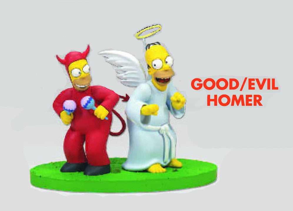 "Simpsons (TV) – Diorama Series 2 – Good & Evil Homer from ""Whacking Day"""
