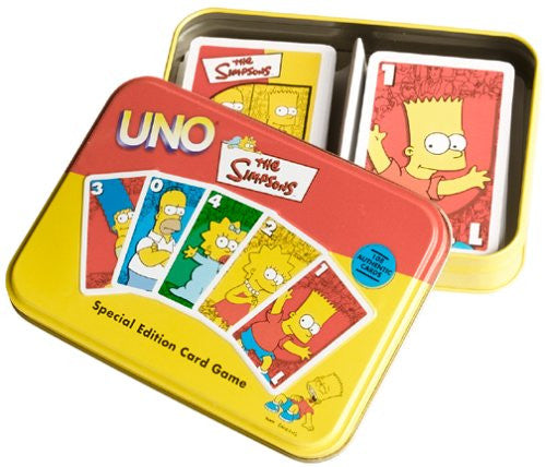 Simpsons (TV) – Uno Playing Card Game in Deluxe Collector Tin