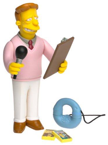 "Simpsons (TV) – World of Springfield – All-Star Celebrity Voices Series 1 – Troy McClure Interactive 5"" Figure (Phil Hartman)"