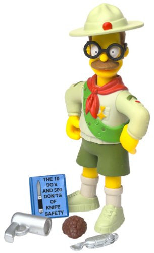 "Simpsons (TV) – World of Springfield – Wave 10 – Scout Leader Flanders Interactive 5"" Figure"