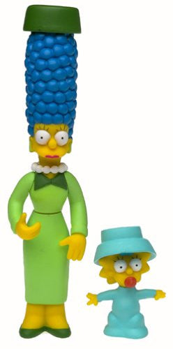 "Simpsons (TV) – World of Springfield – Wave 10 – Sunday Best Marge & Maggie Interactive 5"" Figures"