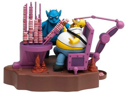 Simpsons (TV) – World of Springfield – Toys R Us / Previews Exclusive – Treehouse of Horror Series 3 Playset – Ironic Punishment Homer Figure Diorama