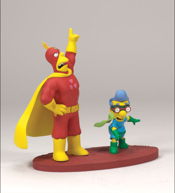 "Simpsons (TV) – Diorama Series 2 – Radioactive Mand and Fallout Boy from ""Radioactive Man"""