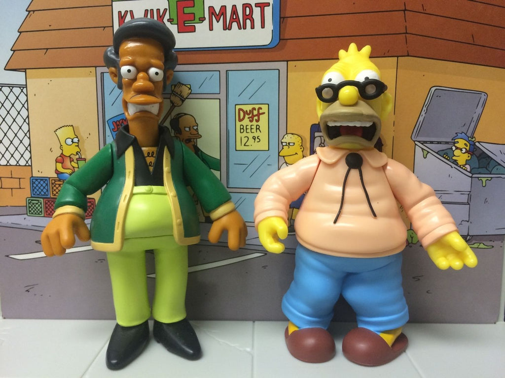 "Simpsons (TV) – World of Springfield – 2-Pack Diorama – Kwik-E-Mart with Apu & Grampa 5"" Figures"