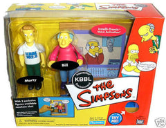 "Simpsons (TV) – World of Springfield – EB Games / Previews Exclusive – KBBL Environment Playset with Bill & Marty Interactive 5"" Figures"