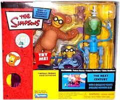 "Simpsons (TV) – World of Springfield – EB Games / Previews Exclusive – Next Century Environment Playset with Future Burns & Future Smithers Interactive 5"" Figures"