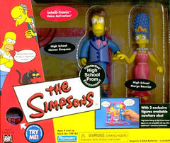 "Simpsons (TV) – World of Springfield – EB Games / Previews Exclusive – High School Prom Environment Playset with High School Marge & High School Homer Interactive 5"" Figures"