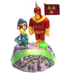 "Simpsons (TV) – World of Springfield – EB Games / Previews Exclusive – Lunar Base Environment Playset with Radioactive Man & Fallout Boy Interactive 5"" Figures"