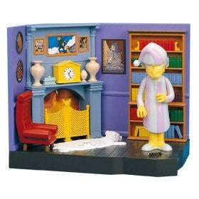 "Simpsons (TV) – World of Springfield – Wave 10 – Burns Manor Environment Playset with Pajama Mr. Burns Interactive 5"" Figure"