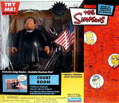 "Simpsons (TV) – World of Springfield – Wave 11 – Springfield Court Room Environment Playset with Judge Snyder Interactive 5"" Figure"