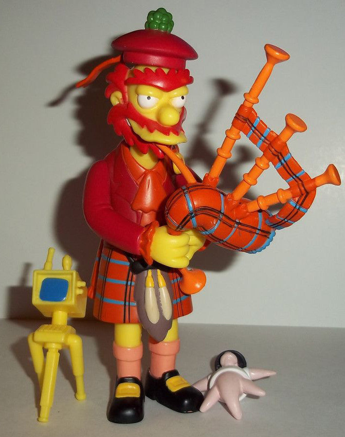 "Simpsons (TV) – World of Springfield – Wave 14 – Groundskeeper Willie in a Kilt Interactive 5"" Figure"